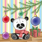 Panda under the tree — Stock Vector
