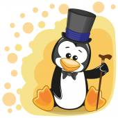 Penguin in hat — Stock Vector