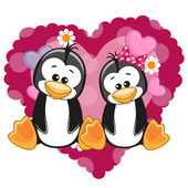 Two Cute Penguins — Stock Vector