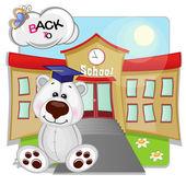 Polar Bear and school — Stockvektor