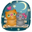 Amanti Cute Cats — Vettoriale Stock  #63653627