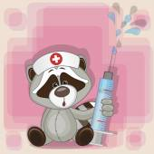 Raccoon nurse — Stockvektor