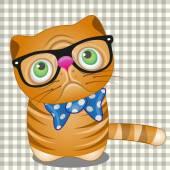 Hipster Cat in glasses — Stock Vector