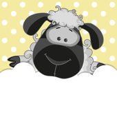 Cute  black Sheep — Stock Vector