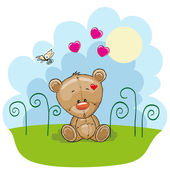 Bear with hearts — Stock Vector