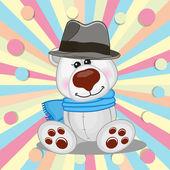 Eisbär mit Hut — Stockvektor