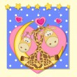 Lovers Giraffes — Stock Vector #68558489