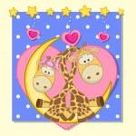 Lovers Giraffes — Stock Vector #68558489