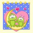 Lovers Frogs — Stock Vector #68558497