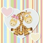 Two Giraffes — Stock Vector #68564479
