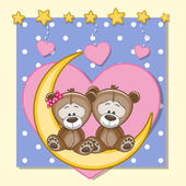 Lovers Teddy Bears — Stock Vector
