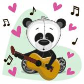 Panda with guitar — Stock Vector