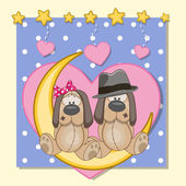 Lovers Dogs — Stock Vector