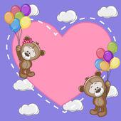 Lovers bears — Stock Vector