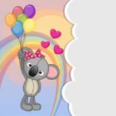 无尾熊气球 — 图库矢量图片