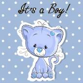 Cute kitten boy — Stock Vector