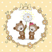 Two Bears — Stock Vector
