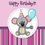 Carte d 39 anniversaire koala dasaquenguli web - Koala et boowa ...