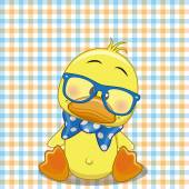 Hipster Duck — Stock Vector