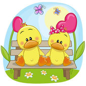 Lovers Ducks — Vettoriale Stock