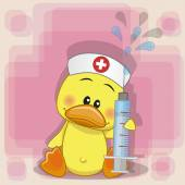 Duck nurse — Wektor stockowy