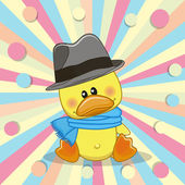 Duck with hat — Stock Vector