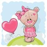 Teddy with balloons — Stock Vector #71612249