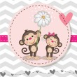 Two Monkeys — Stock Vector #73082087