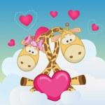 Lovers Giraffes — Stock Vector #73368017