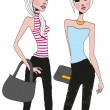 Two girls — Stock Vector #76769833