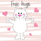 Free hugs — Stock Vector