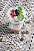 Muesli avec du yaourt. — Photo