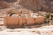 Monastery of St. Catherine in mountains,Egypt — Stock Photo