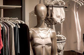 Shop interior with mannequin — Foto Stock