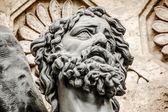 Stone sculpture of  man's head — Foto de Stock