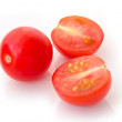 Three fresh tomatoes with isolated on white background — Stock Photo #61570093