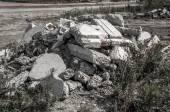 Pile of Discarded Bricks — Stock Photo