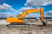 Excavator working on the ground — Stock Photo