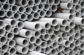 Asbestos pipes for drain — Stock Photo