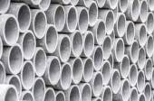 Closeup of asbestos pipes — Stock Photo