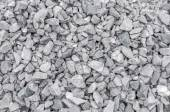 Closeup of crushed gravel as background or texture — Stock Photo