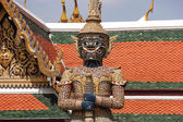 Demon Guardian in the Buddhist Temple — Stock Photo