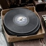 Vinyl records at a flea market — Stock Photo #63275985