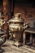 Old golden samovar — Stock Photo