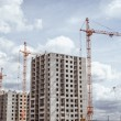 Huge cranes  working on construction site — Stock Photo #78578324
