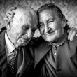 A loving, handsome senior couple. Romantic Senior Couple Hugging. Loving each other forever. Happy retirement concept. — Stock Photo #61727227