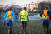 EDINBURGH, SCOTLAND, UK, January 10, 2015 - elite athletes exhausted after the Great Edinburgh Cross Country Run. Men's Invitational 4k race was won by last year's champion Garrett Heath, USA. — Stock Photo