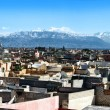 Panoramic view over rooftops near Jemaa el Fna, Marrakech, Morocco — Stock Photo #62262687