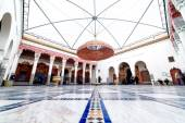 Marrakech, MOROCCO - February 10, 2012 - Impressive Musee de Marrakech courtyard located in Mnebhi Palace — Stock Photo