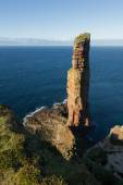 The Old Man of Hoy, sea stack on the island of Hoy, part of the Orkney archipelago off the north coast of Scotland. — Stock Photo